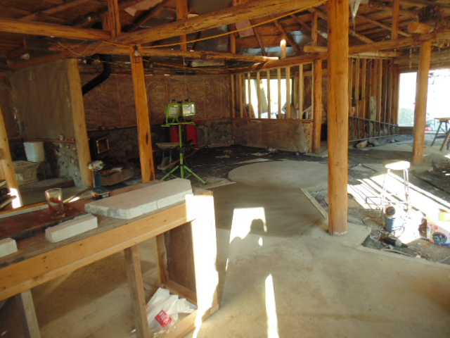 Looking into living area