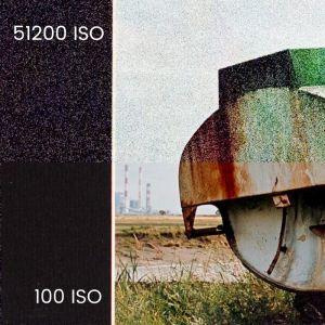 ISO et bruit, comparaison 100 ISO et 51200 ISO