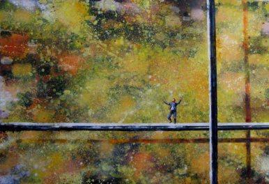 130x190_cm_Yellow_Excitement_2006_Oel_und_Lack_auf_Leinwand