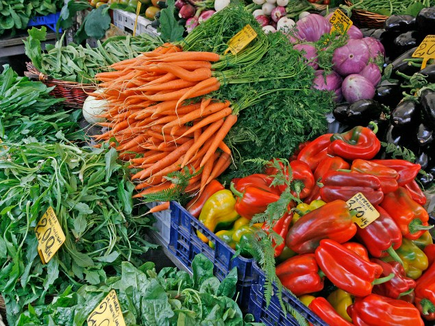 The Campo market is known throughout Rome for its top-quality local vegetables and fruit.