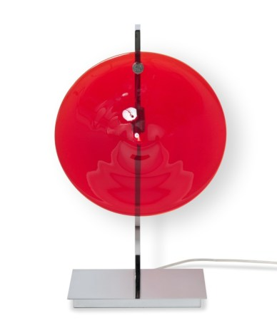 Lampe de table - ORBE - Chrome + Rouge