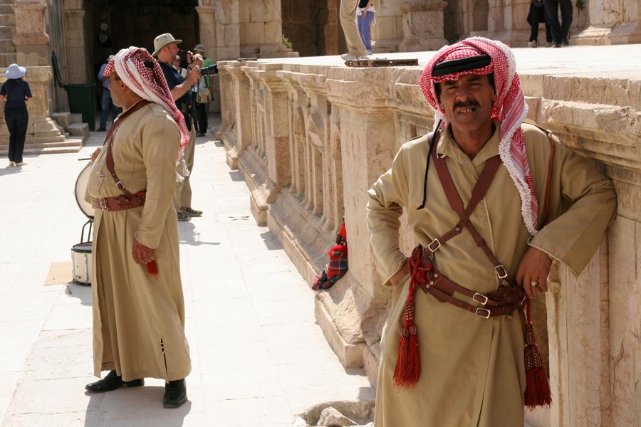 Arab entertainers at the Jerash Roman ruins