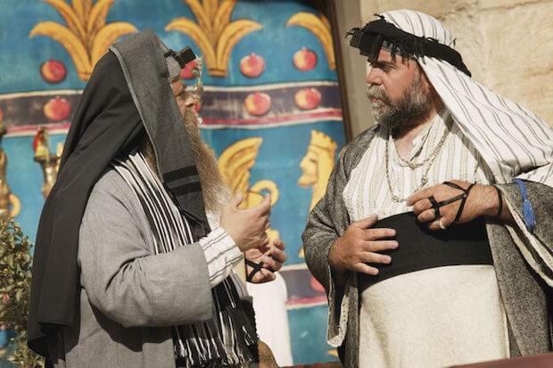 Homo spiritus being discussed by Jewish rabbis