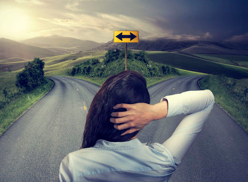 Doubt will certainly pollute your faith. A woman caught up in a cross road