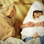 Jesus born a man in a mander