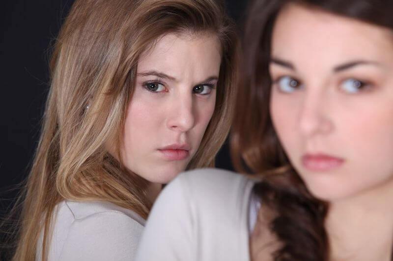 Bitterness image of an upset bitter woman