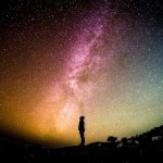 God is spirit image showing a man looking at space
