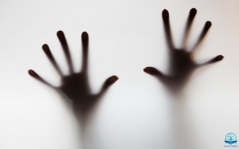 What is fear? Image showing scary hands