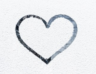 Blessed are the pure in heart showing a diagram of a line tracing the heart