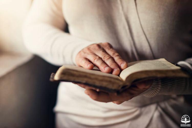 A man reading through the Bible