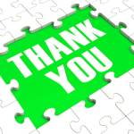 """giving thanks unto the Father at all times showing the words """"thank you"""""""