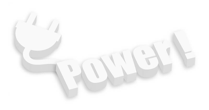 The Holy Spirit, power and the anointing showing the word power and a plug