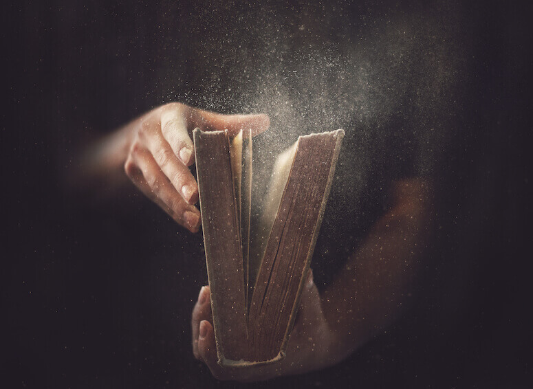 Wisdom is Justified of all her Children showing an open book