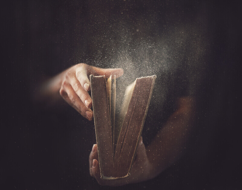 What is wisdom showing an open book