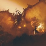 A sorcerer a false prophets showing a man calling a dragon