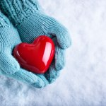 Greater love hath no man showing a heart