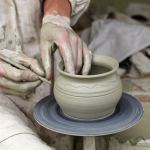 Christ be formed in you showing a porter working on clay