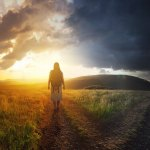 What does it mean to live in the glory showing a woman walking in the light