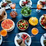 spiritual food showing a dinner table