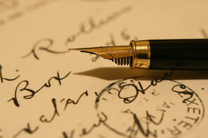 ink of the Spirit showing a fountain pen on paper