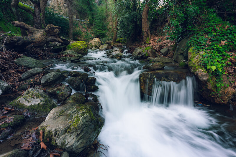 in the wilderness shall waters break out and streams in the desert showing a stream