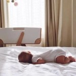 God was manifest in the flesh showing a baby sleeping