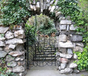 A gate in Iveagh Gardens