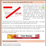 As Promos On Ponzi Forums Continue And Members Claim IRS Recognition, Club Asteria Acknowledges That Its Members Used PayPal 'To Cheat Fellow Members'; Says Fraudsters Were Turned Over To Unidentified 'Authorities'; Existing Members Of Virginia-Based Firm Told To Use Offshore Processors