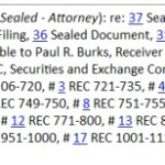 ZEEK UPDATE: Thousands Of Records Filed Under Seal
