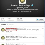 URGENT >> BULLETIN >> MOVING: Bombing Suspect In Custody, Boston Police Say