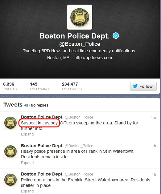 BostonPDSuspectInCustody