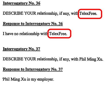 TelexFree's name is referenced on Page 14 of Exhibit 3 in an SEC affidavit filed as part of the WCM777 pyramid- and Ponzi prosecution. Information in the exhibit was gleaned from the California Department of Business Oversight's investigation into WCM777.