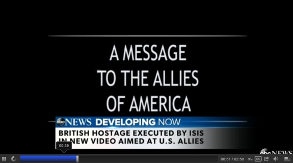 From ABC News: ISIS tries to chill The United States, the United Kingdom and other allies.