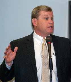 Attorney General Lawrence Wasden at an Idaho event last year. Source: website of the attorney general.