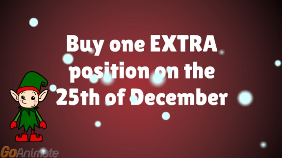 "This 2014 promo for ""Achieve Community"" asked members to purchase ""one EXTRA position"" on Christmas Day."