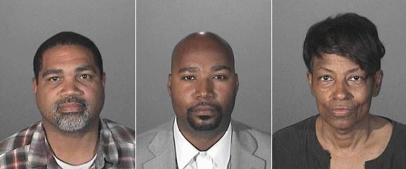 From left to right: David Henry, Brandon Kiel and Tonette Hayes. Images provided by Los Angeles County Sheriffs Department. Photo compilation by PP Blog.