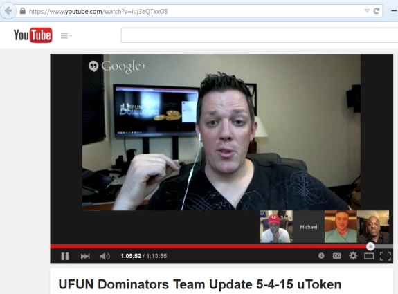'Dominator' Michael Mansell tells the UFunClub/UToken troops that opponents of the program are like the Zombies on 'The Walking Dead' television series.