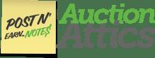 AuctionAttics logo.