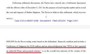 DEVELOPING STORY: Proposed Settlement Agreement With Zeek Receiver May Wipe Out MLM Attorneys And Law Firm