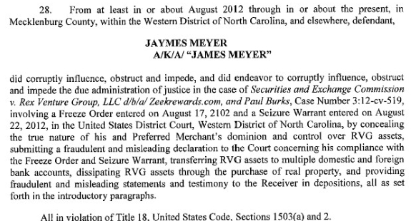 From the criminal charges filed against Zeek payment vendor Jaymes Meyer in the Western District of North Carolina.