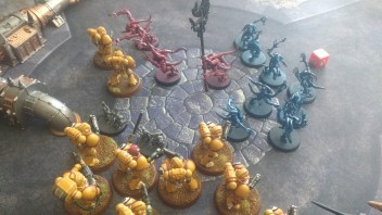 Imperial Fists Tactical Squad Fight Horrors