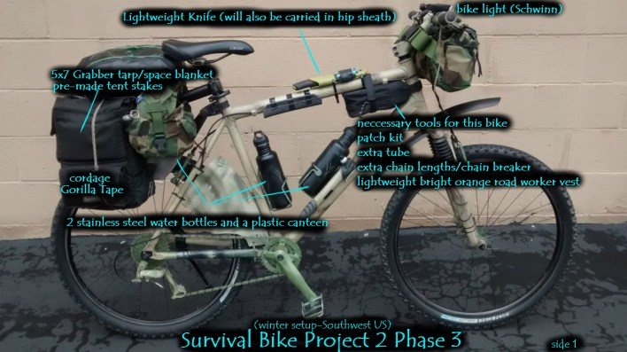 Stealth Bug Out Survival Mountain Bike Project