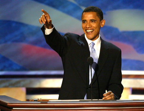 Barack pointing directly in the direction of 1417 Greenup Street in Covington, Kentucky Yo, Girl!