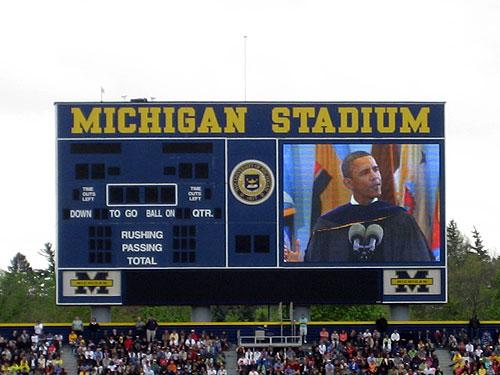 Obama at University of Michigan graduation