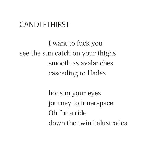 Candlethirst (first two stanzas) by Patrick Stack