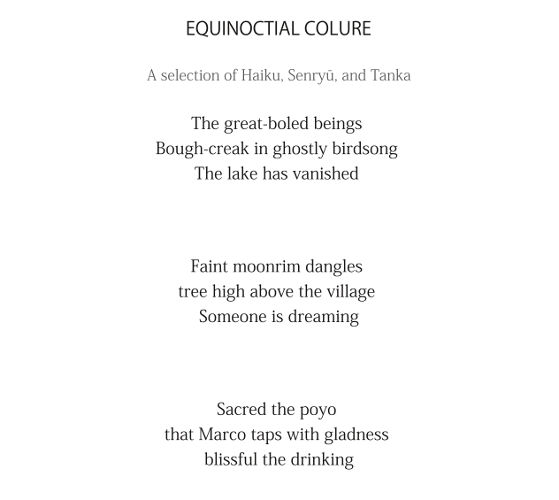 Equinoctial Colure - extract