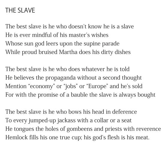 The Slave by Patrick Stack
