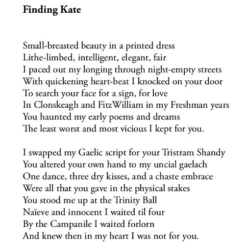 Finding Kate (excerpt) by Patrick Stack