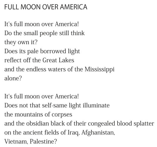 Full Moon over America (excerpt) by Patrick Stack