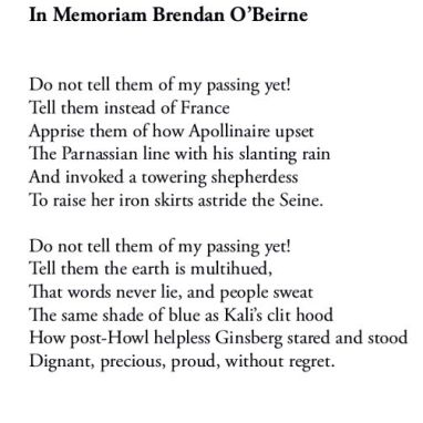 In Memoriam Brendan O'Beirne